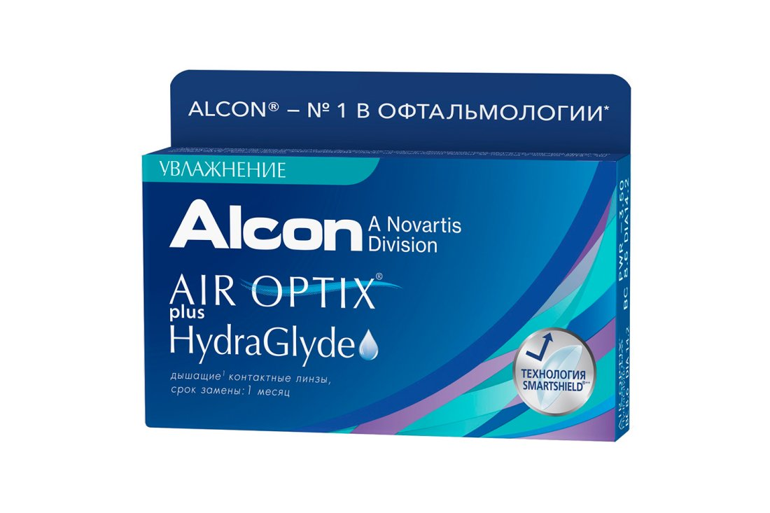 Контактные линзы Air Optix Plus HydraGlyde (6) - 1